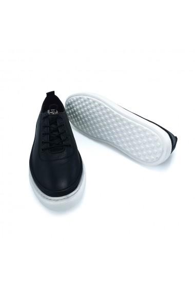 Pantofi piele naturala Torino 3655 negri