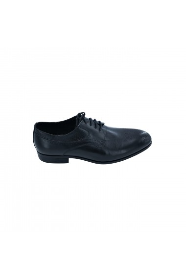 Pantofi din piele Torino 323-5 negri