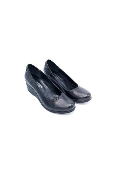 Pantofi piele naturala Torino 276 negru