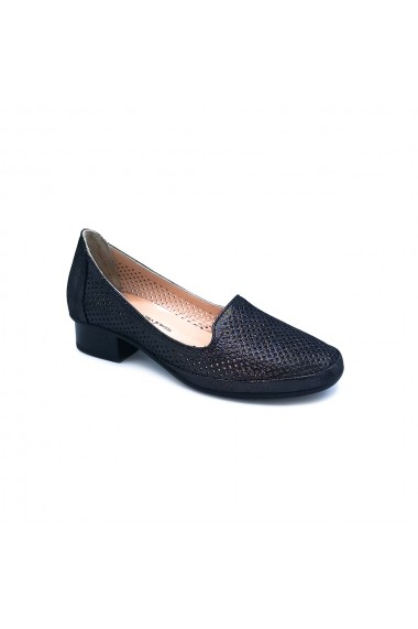 Pantofi piele naturala Torino 920 negru sidef