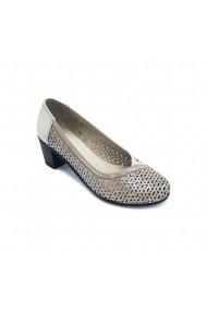 Pantofi piele naturala Torino 804 K bej sidef