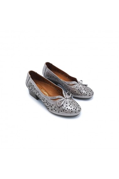 Pantofi piele naturala Torino 25 Argintiu