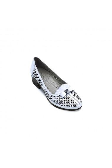 Pantofi piele naturala Torino 1524 albi