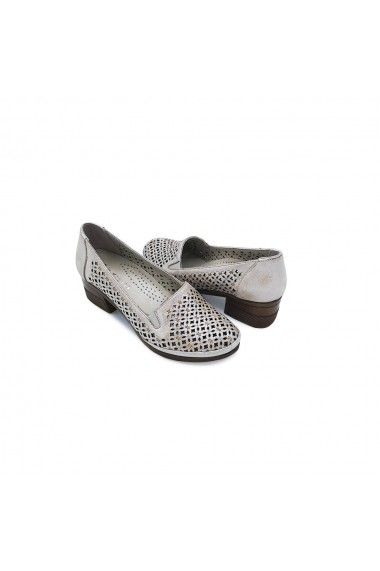 Pantofi piele naturala Torino 5145 bej sidef