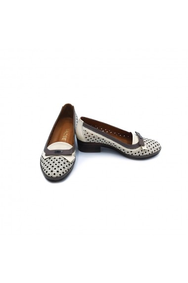 Pantofi piele naturala Torino 0909 Alb