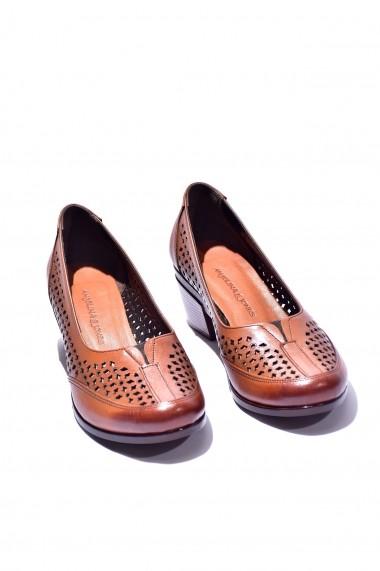 Pantofi piele naturala Torino 278 maro