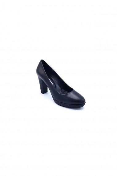 Pantofi din piele naturala Torino 7552 negri