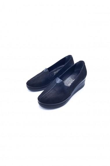Pantofi piele naturala Torino 71 negri