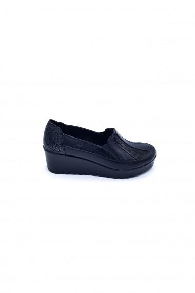 Pantofi piele naturala Torino 601 negri
