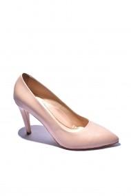Pantofi piele naturala Torino 689 roz pudra