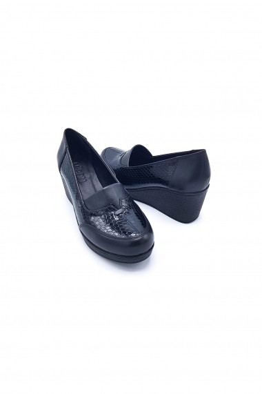 Pantofi piele naturala Torino 410 negri