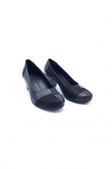 Pantofi piele naturala Torino 200 negri