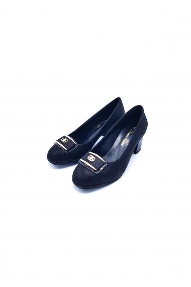 Pantofi piele naturala Torino 233 negri
