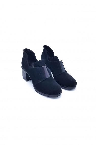 Pantofi piele naturala Torino 237 negri