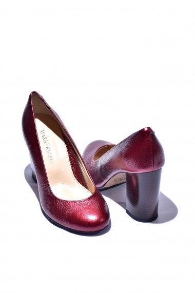 Pantofi piele naturala Torino 18 bordo sidef