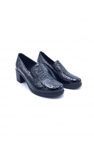 Pantofi piele naturala Torino 15 negru lac