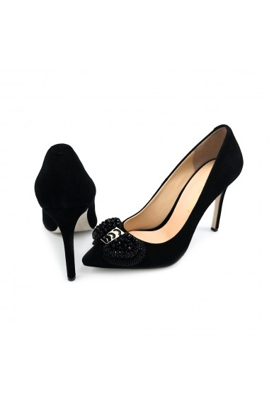 Pantofi piele naturala Torino 3146 negri