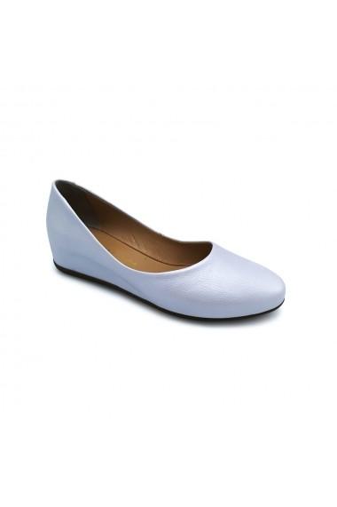 Pantofi piele naturala Torino 1574 alb sidef