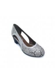 Pantofi piele naturala Torino 267 bej sidef