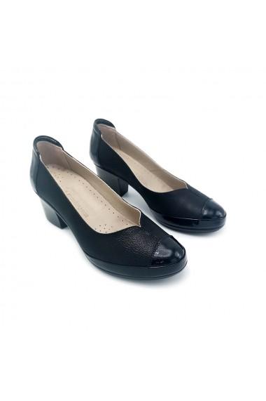 Pantofi piele naturala Torino 2400 negri