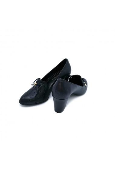 Pantofi piele naturala Torino 1223 negru sidef