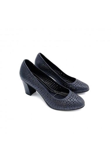Pantofi piele naturala Torino 2272-1 negru sidef