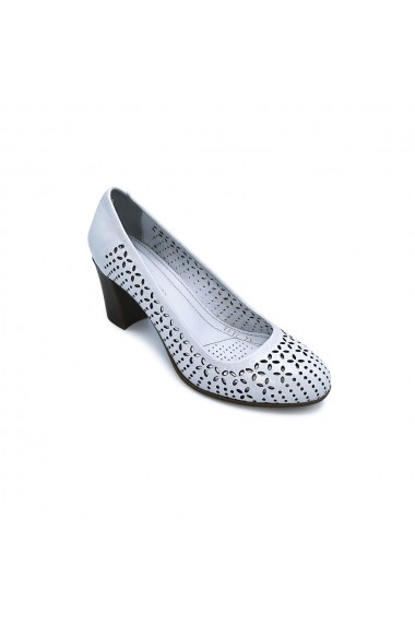 Pantofi piele naturala Torino 2272 alb sidef