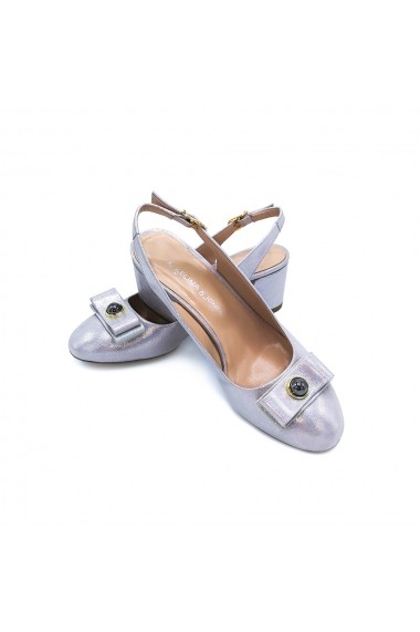 Pantofi piele naturala Torino 66 roz pudra sidef