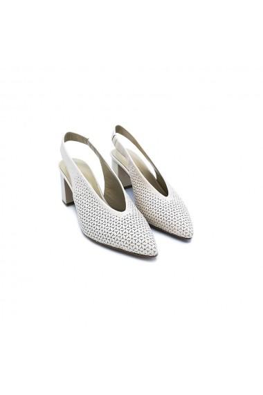 Pantofi piele naturala Torino 6045-1 Crem