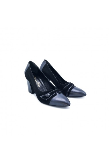 Pantofi piele naturala Torino 062 negri