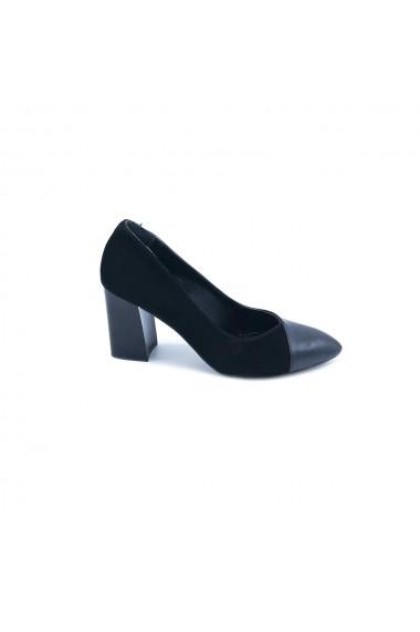 Pantofi piele naturala Torino 061 negri