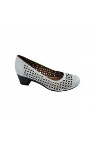 Pantofi din piele Torino 213-012 Crem