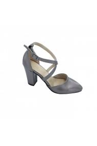 Pantofi cu toc Torino 0760-01 Argintii