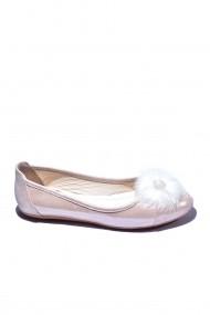 Balerini piele naturala Torino 2711 roz sidef