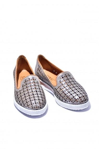 Pantofi piele naturala Torino 181 aurii