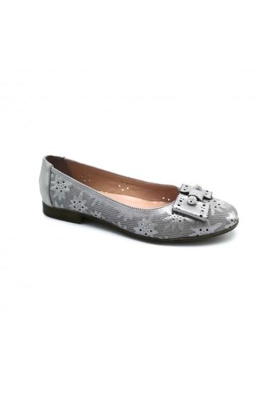 Balerini piele naturala Torino 3934 argintii