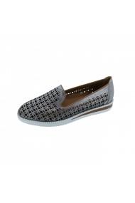 Pantofi piele naturala Torino 181-016 Vizon