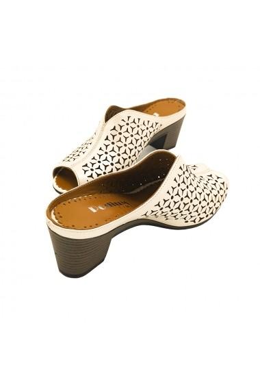 Papuci piele naturala Torino 149-40 crem