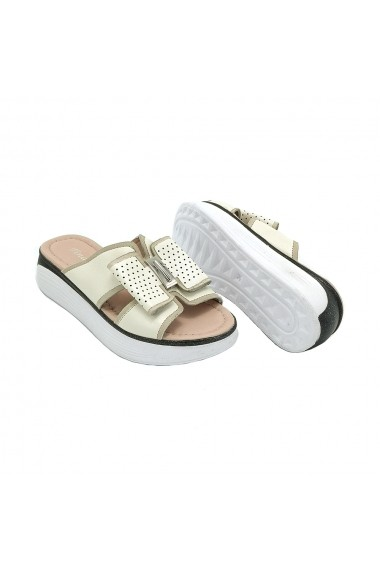 Papuci piele naturala Torino 934-35 bej