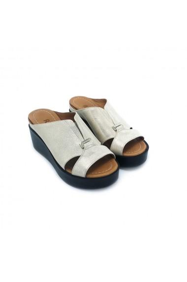 Papuci piele naturala Torino 907 auriu