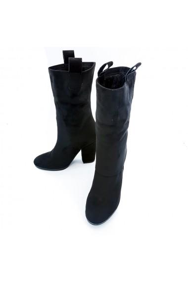 Cizme din piele ecologica Torino K017 Negre