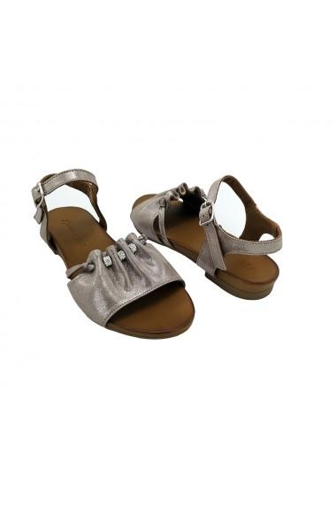 Sandale piele naturala Torino 13-708 Gri-Bej