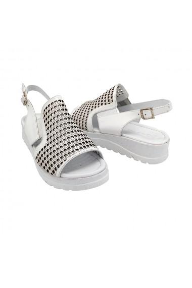 Sandale piele naturala Torino 750 albe
