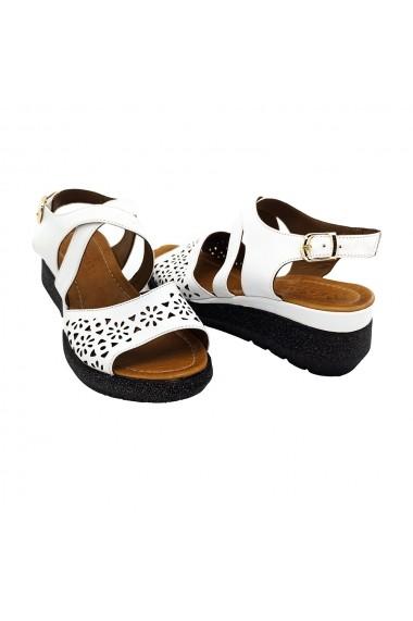 Sandale piele naturala Torino 5182-2 albe