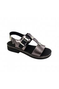 Sandale piele naturala Torino 7545 argintii