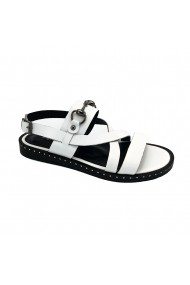 Sandale piele naturala Torino 36-33 albe