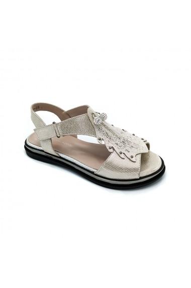 Sandale piele naturala Torino 502 argintii