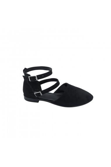 Sandale plate Torino T-030 Negre