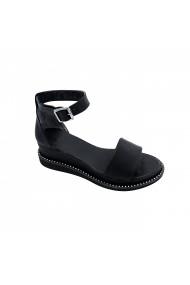 Sandale plate Torino TD-01 Negre
