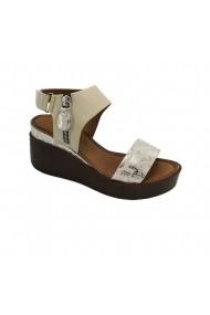 Sandale cu platforma piele naturala Torino 1078 bej
